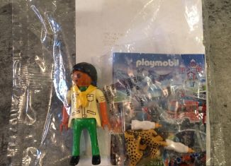 Playmobil - 30739263 - Female Zookeeper with two Cheetah cubs - free promotional