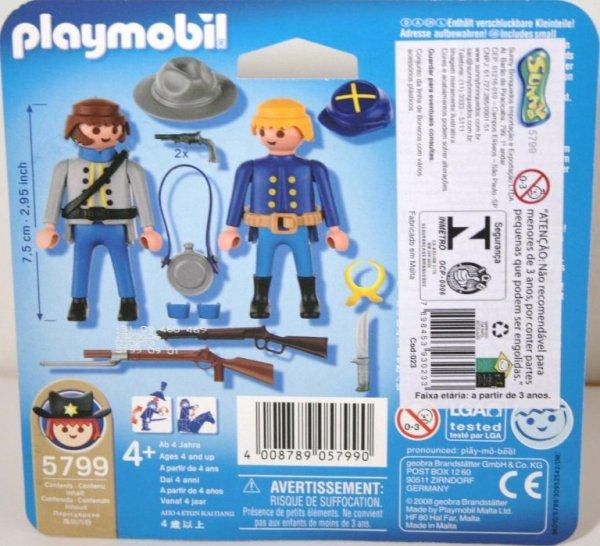 Playmobil 5799 - Civil War Duo-Pack - Back