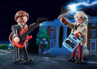Playmobil - 70459 - Back to the Future Marty Mcfly and Dr. Emmett Brown
