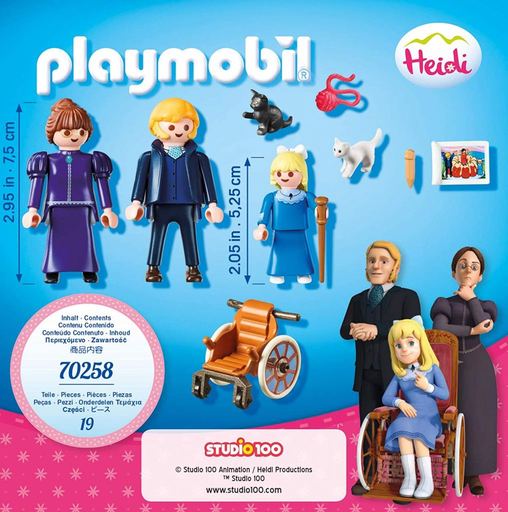 Playmobil 70258 - Clara with her Father and Miss Rottenmeier - Back