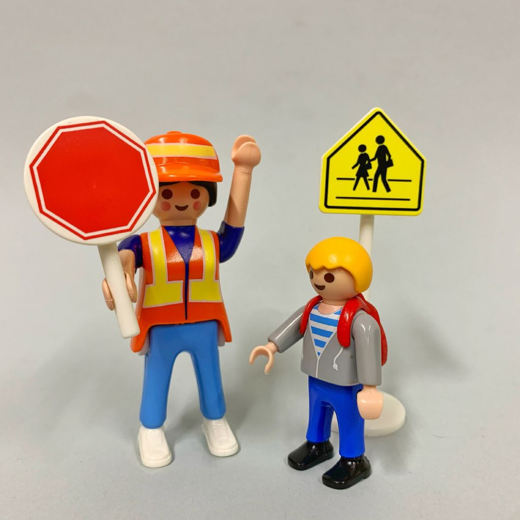 Playmobil 5939 - Crossing guard and child - Back