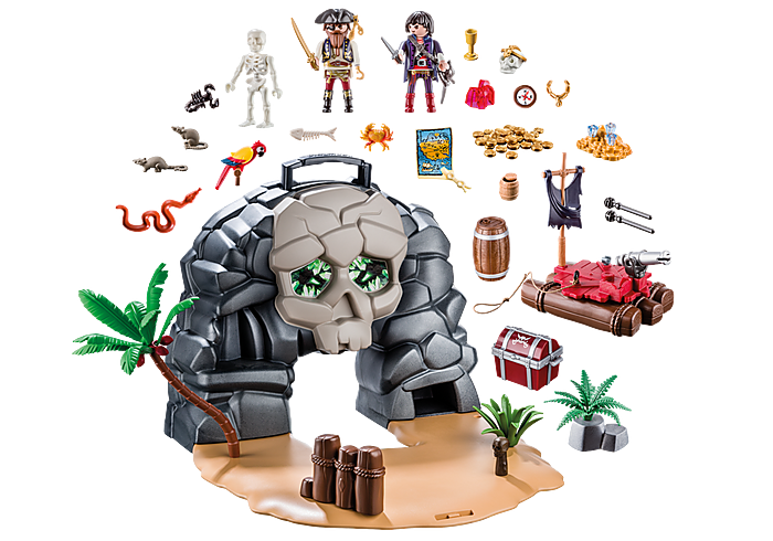Playmobil 70113 - Take Along Pirate Skull Island - Back