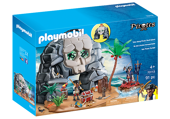Playmobil 70113 - Take Along Pirate Skull Island - Box