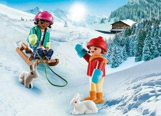 Playmobil - 70250 - Children with sleigh