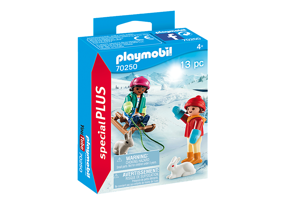 Playmobil 70250 - Children with sleigh - Box