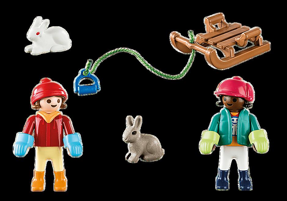 Playmobil 70250 - Children with sleigh - Volver