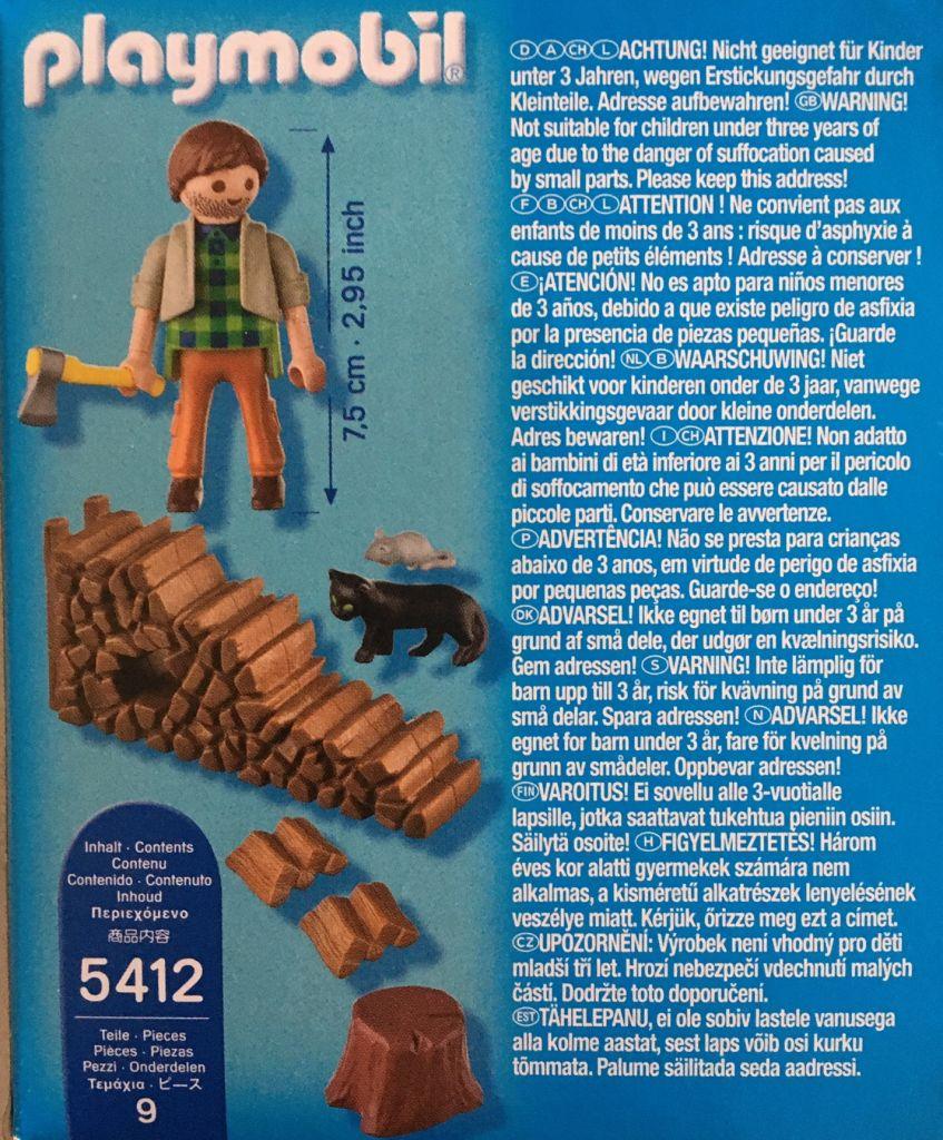 Playmobil 5412 - Holzhacker - Zurück