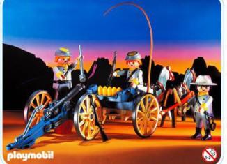 Playmobil 3784 - Confederate Artillery - Back