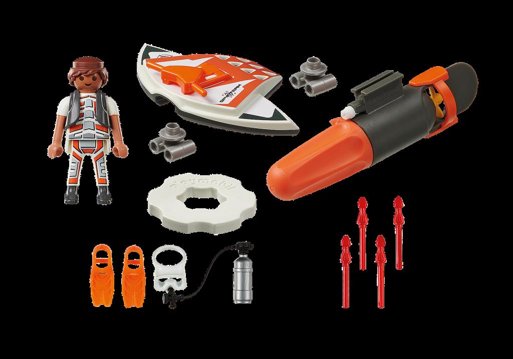 Playmobil 70004 - SPY TEAM Underwater Wing - Back