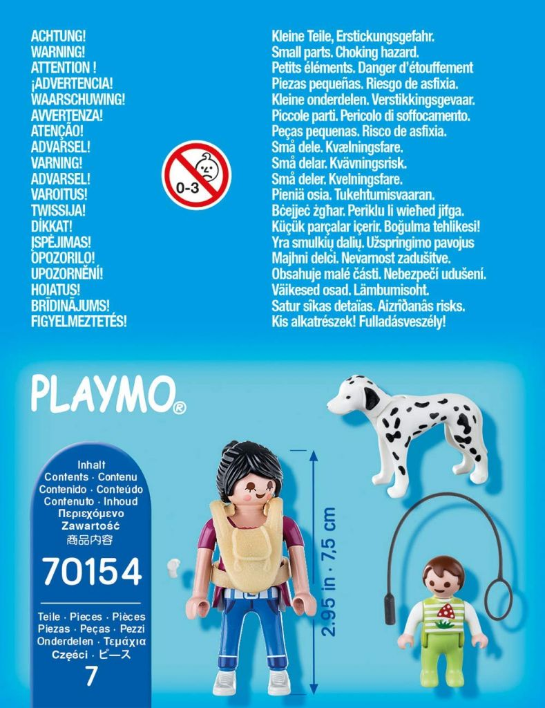 Playmobil 70154 - Mom with Baby - Back