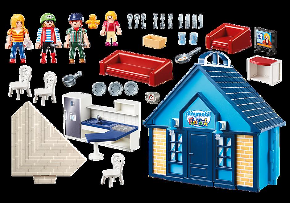 Playmobil 70219 - PLAYMOBIL-FunPark Summerhouse Playbox - Back