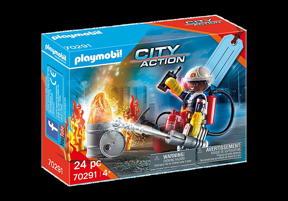 """Playmobil 70291 - Geschenkset """"Feuerwehr"""" - Caja"""