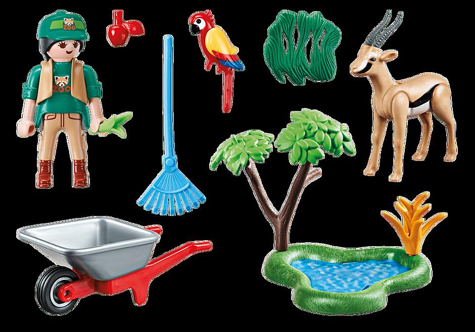 "Playmobil 70295 - Geschenkset ""Zoo"" - Back"