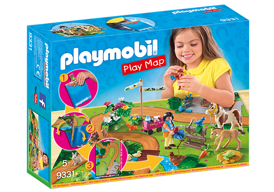 Playmobil 9331 - Play Map Pony Tour - Box