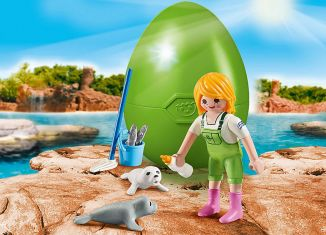 Playmobil - 9418 - Keeper with Seal Babies