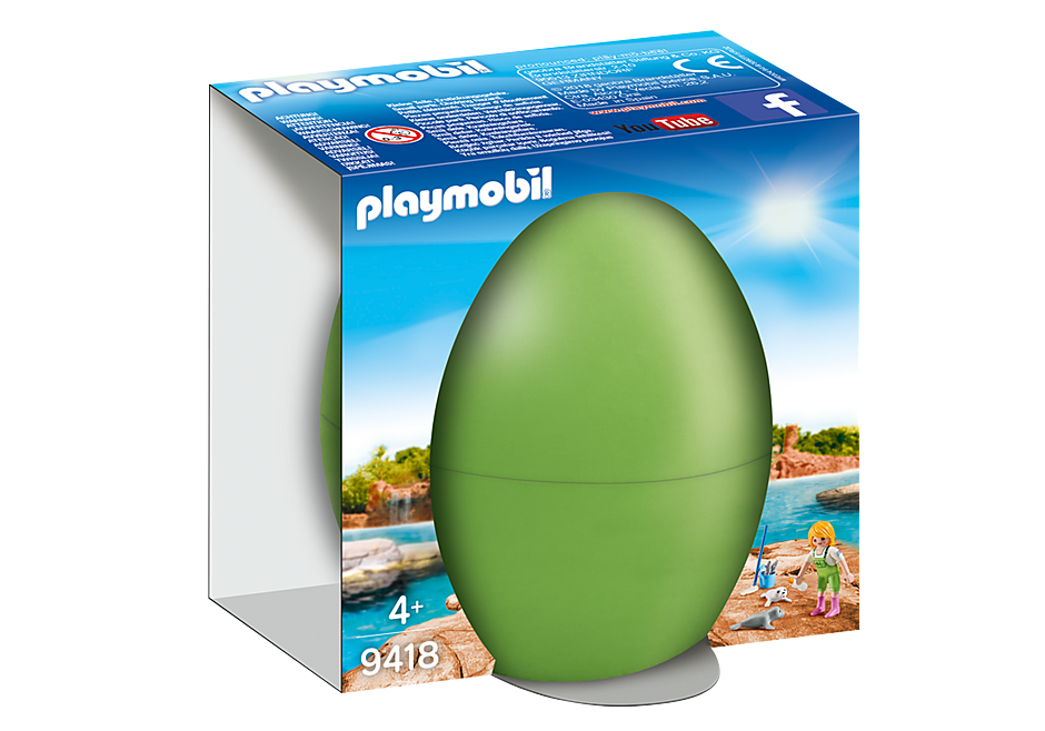 Playmobil 9418 - Keeper with Seal Babies - Box