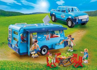 Playmobil - 9502 - Playmobil Pickup with Caravan