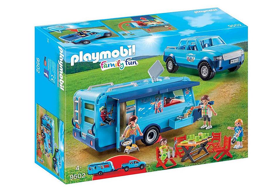 Playmobil 9502 - Playmobil Pickup with Caravan - Box
