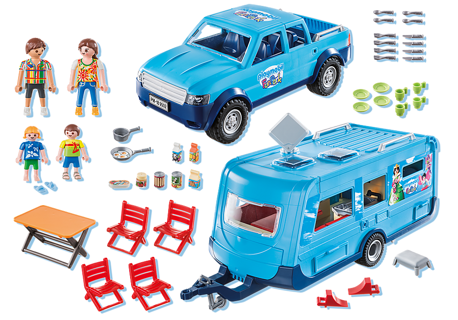 Playmobil 9502 - Playmobil Pickup with Caravan - Back
