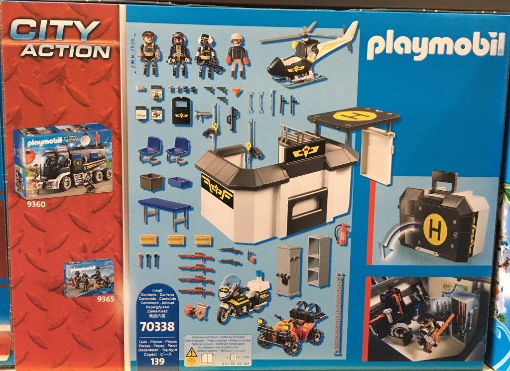 Playmobil 70338 - Take Along Tactical Unit Headquarters - Back