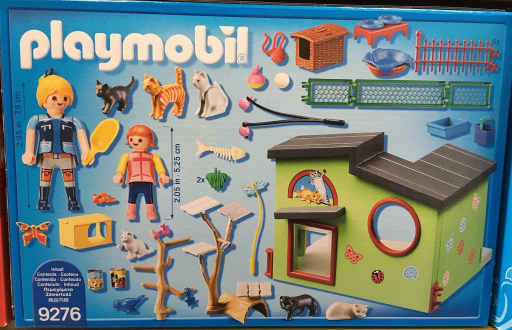 Playmobil 9276 - Purrfect Stay Cat Boarding - Back