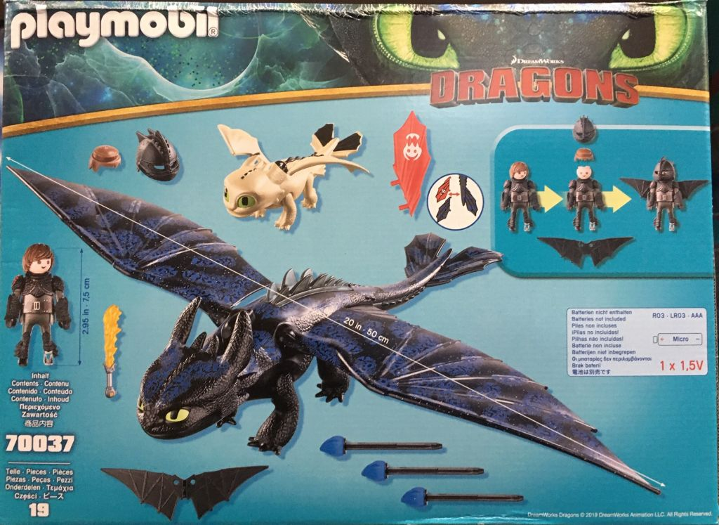 Playmobil 70037 - Hiccup and Toothless Playset - Back