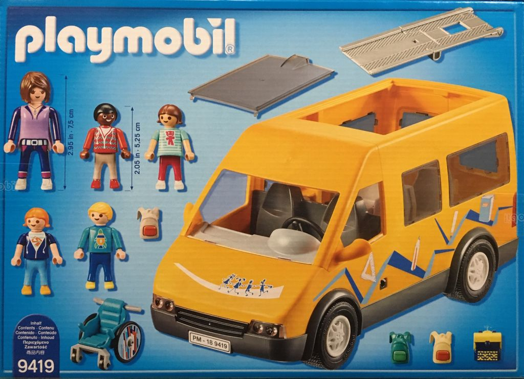 Playmobil 9419 - School Bus - Back