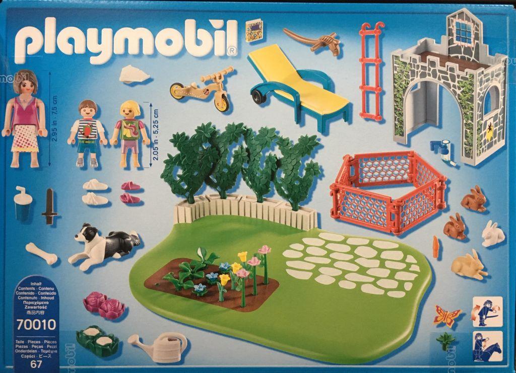 Playmobil 70010 - SuperSet Family Garden - Back