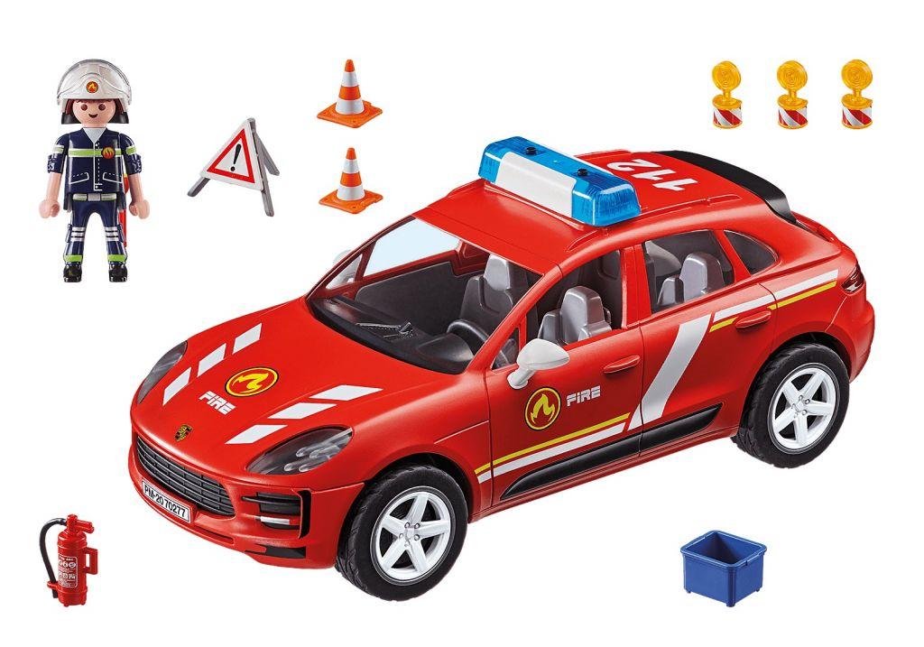 Playmobil 70277 - Porsche Macan S fire brigade - Back