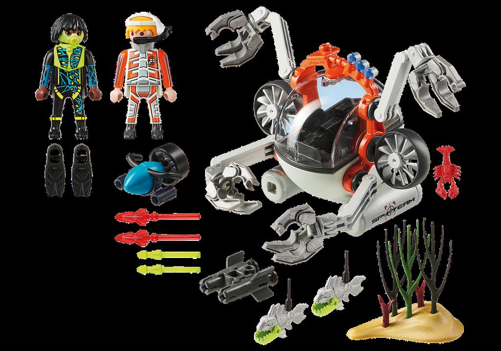 Playmobil 70003 - SPY TEAM Sub Bot - Back