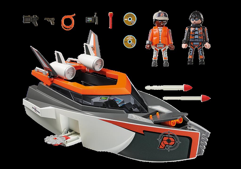 Playmobil 70002 - SPY TEAM Turbo Ship - Back