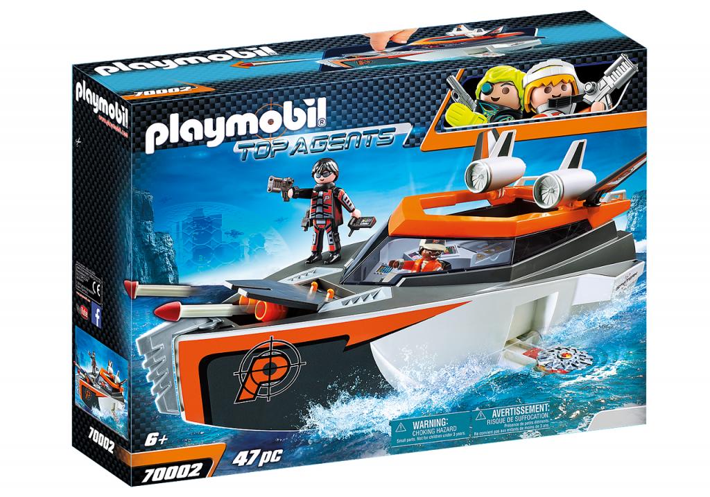 Playmobil 70002 - SPY TEAM Turbo Ship - Box