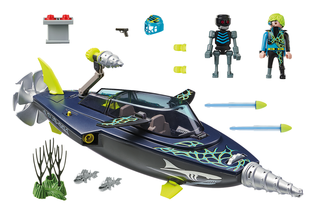 Playmobil 70005 - TEAM S.H.A.R.K. Drill Destroyer - Back