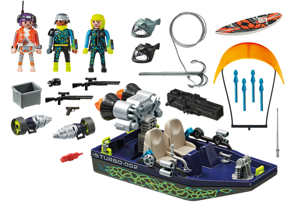 Playmobil 70006 - TEAM S.H.A.R.K. Harpoon Craft - Back