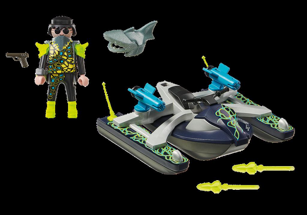 Playmobil 70007 - Moto acuática Equipo S.H.A.R.K. - Volver