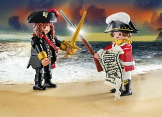 Playmobil - 70273-ger - Duo Pack Pirate and Soldier
