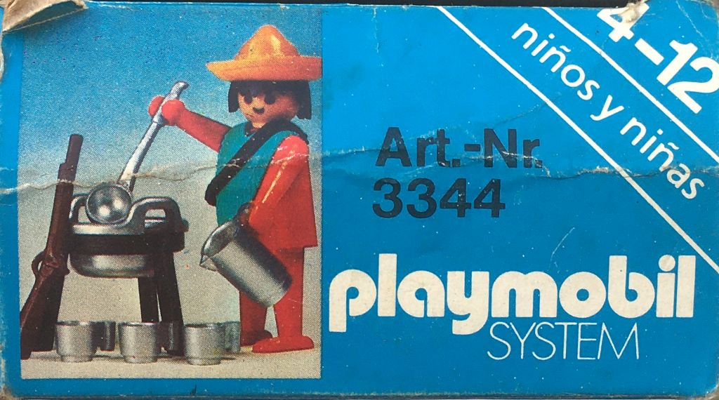 Playmobil 3344-ant - Mexican with Cooking Set - Back