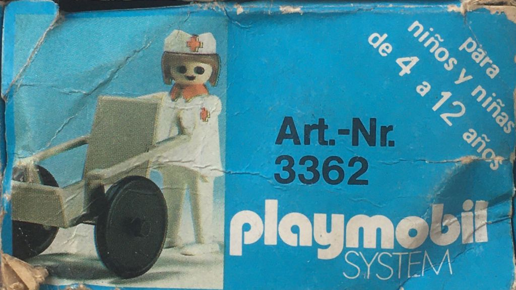 Playmobil 3362-ant - Nurse / wheelchair - Back