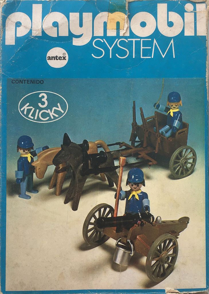 Playmobil 3244-ant - US artillery cannon and cart - Box