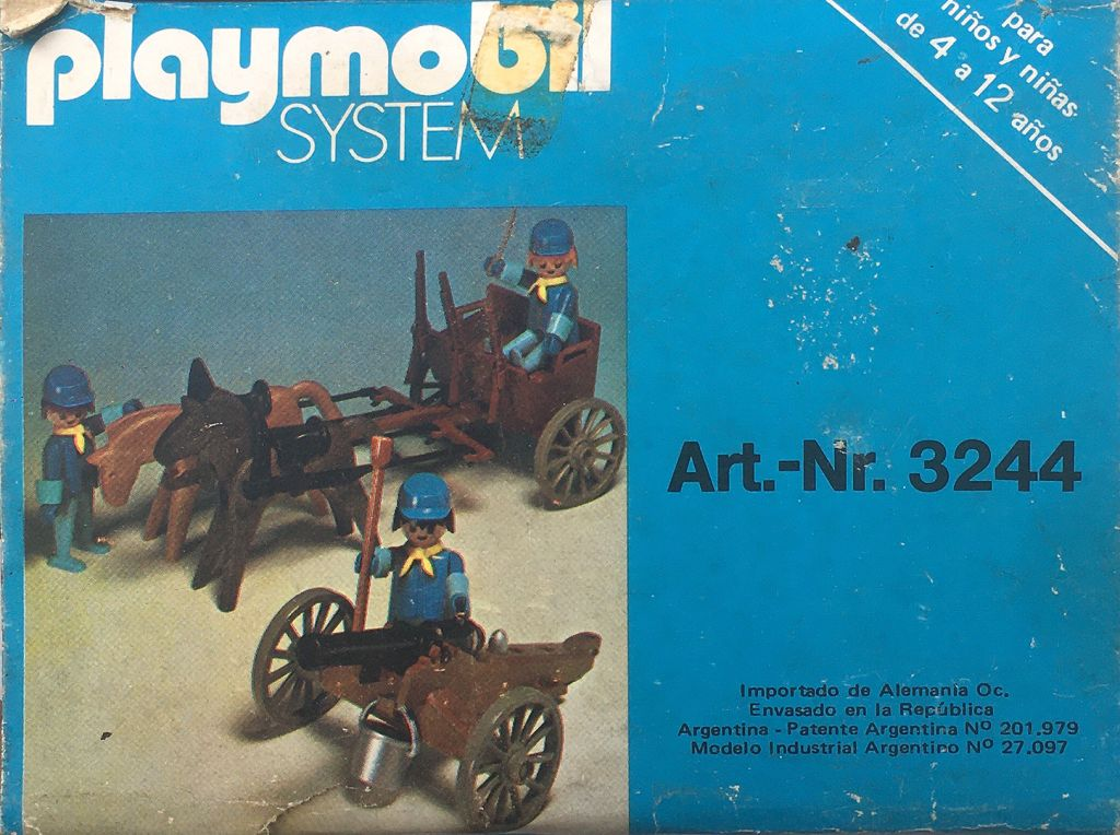 Playmobil 3244-ant - US artillery cannon and cart - Back