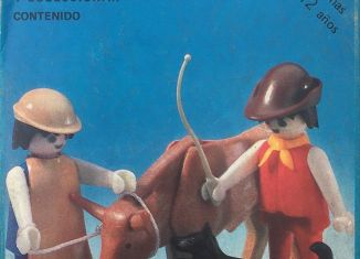 Playmobil - 3577-ant -  Farmers with bull