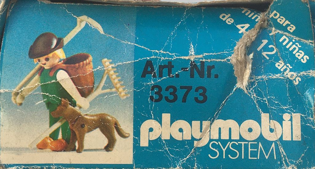 Playmobil 3373-ant -  Farmer with dog - Back