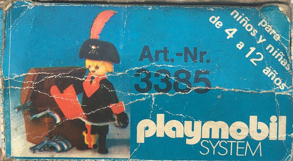 Playmobil 3385-ant - Pirate captain - Back