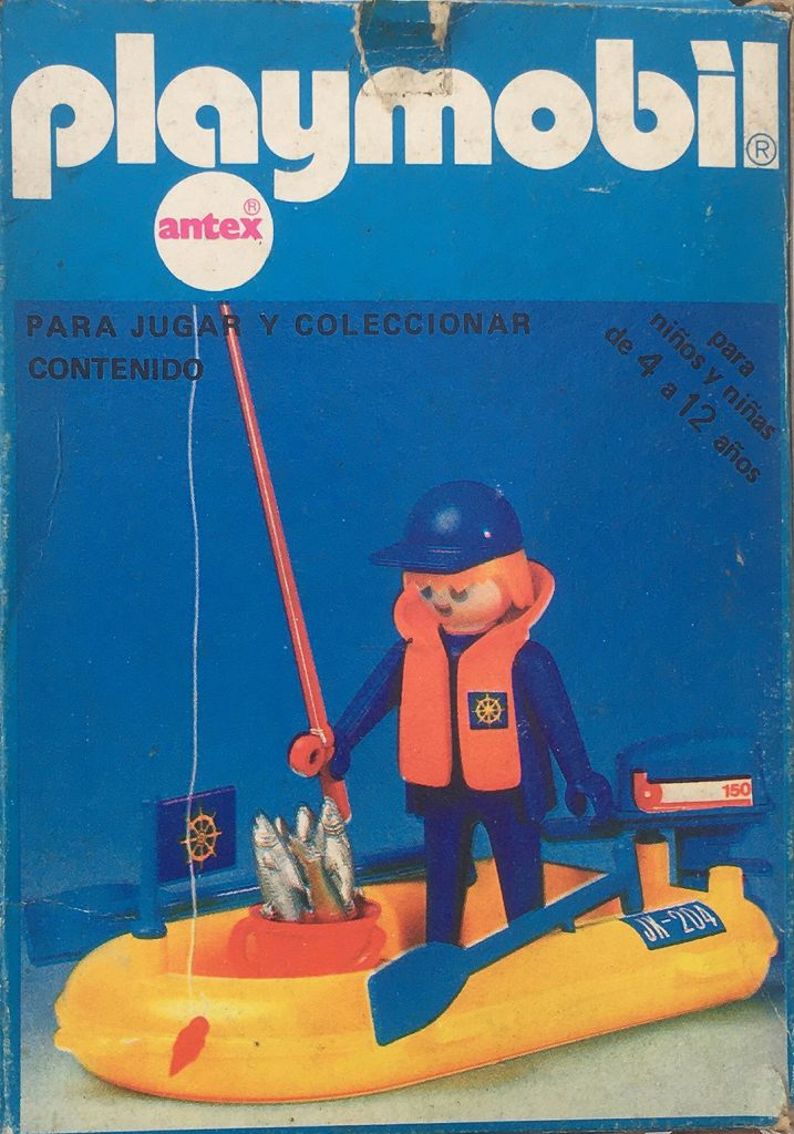 Playmobil 3574v1-ant - Fisherman In Rowboat - Box