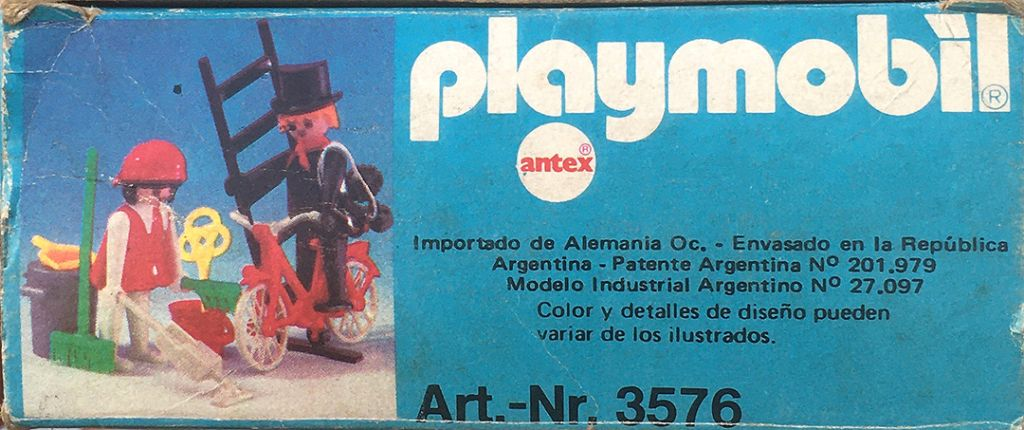 Playmobil 3576-ant - Chimney sweep and cleaning lady - Back