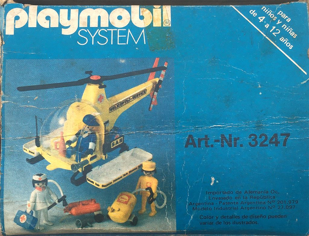 Playmobil 3247-ant - Rescue helicopter - Back