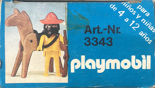 Playmobil 3343-ant - Mexican bandit - Back