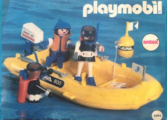 Playmobil - 3.80.4-ant - Divers in yellow raft