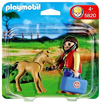 Playmobil 5820 - Vet and Colt Pack - Box