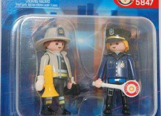 Playmobil - 5847 - Fireman and Policeman Pack